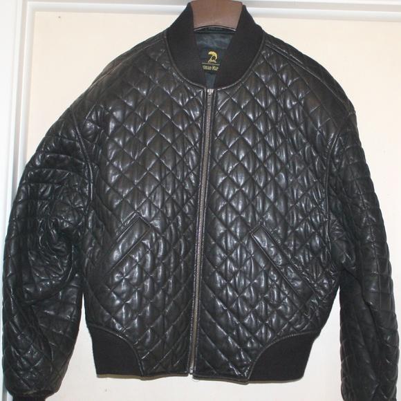 Neiman Marcus Jackets & Blazers - Neiman Marcus Black Quilted Leather Jacket.